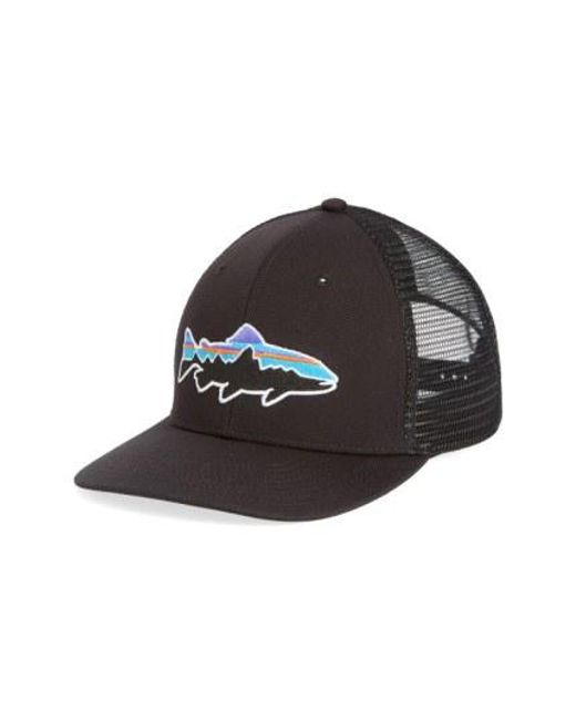 Patagonia - Black 'fitz Roy - Trout' Trucker Hat for Men - Lyst
