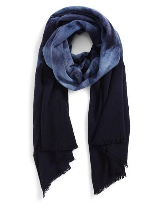 Paul Smith | Blue Tie Dye Wool Scarf | Lyst