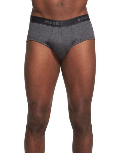 2xist | Gray 3- Pack Contour Pouch Briefs, Black for Men | Lyst