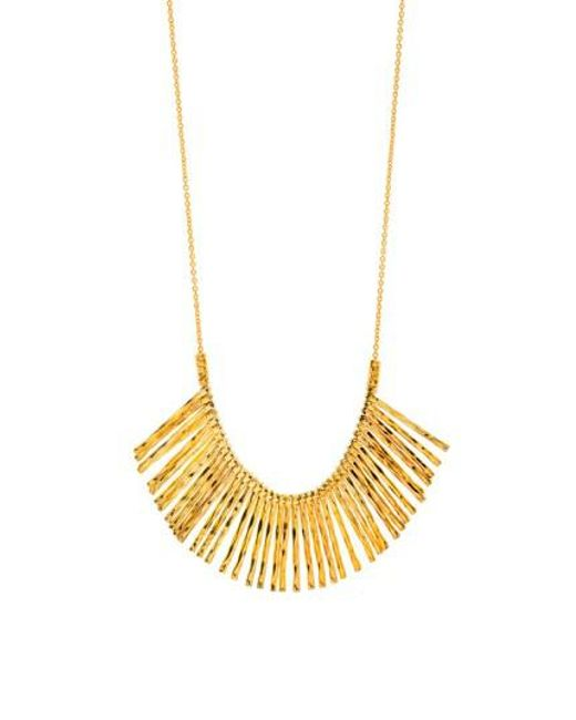 Gorjana | Metallic 'kylie' Fan Necklace | Lyst
