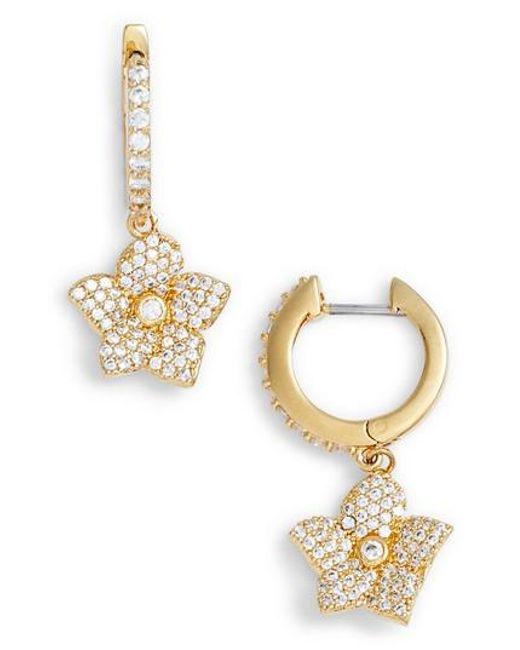 Kate Spade - Metallic Blooming Pave Drop Earrings - Lyst