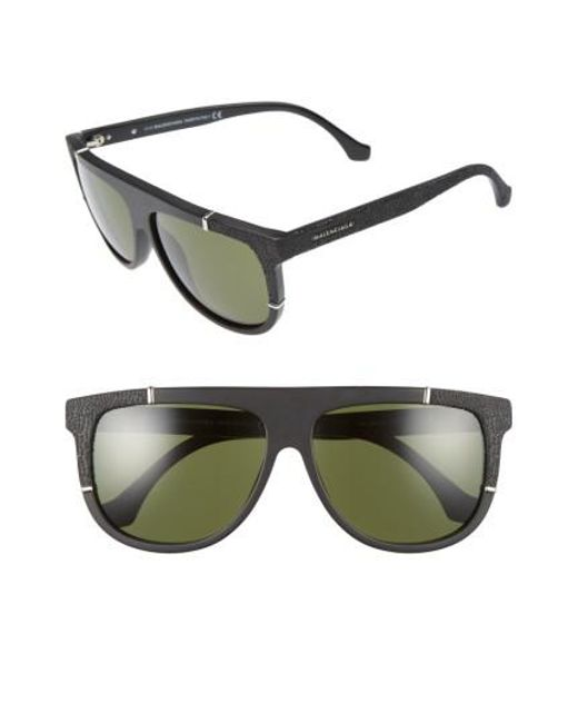 Balenciaga - Green 58mm Flat Top Sunglasses - - Lyst