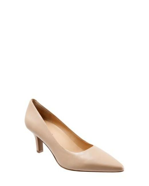 Trotters | Natural Noelle Pointy Toe Pump | Lyst