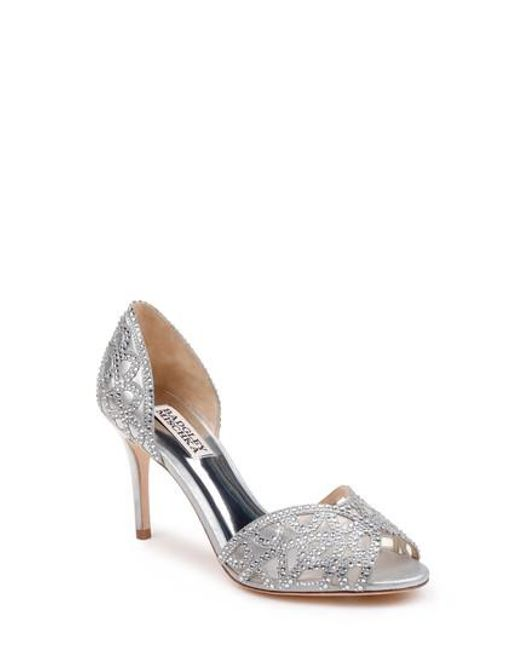 Badgley Mischka Harris Rhinestone Jeweled Satin d'Orsay Pumps DZSrP8e