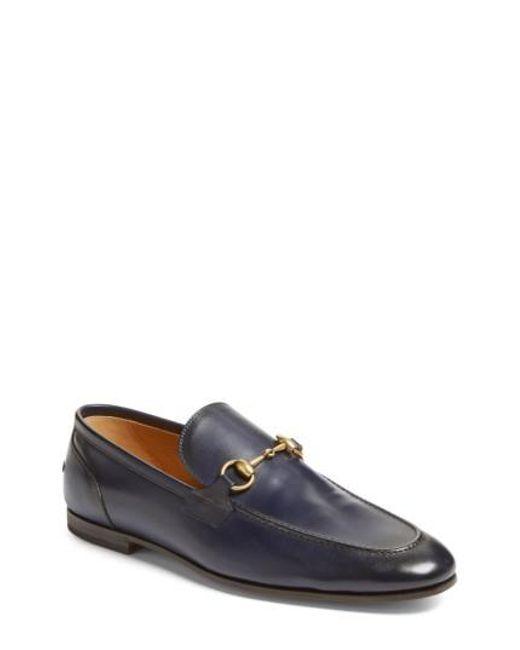 Gucci | Blue Jordaan Bit Loafer for Men | Lyst