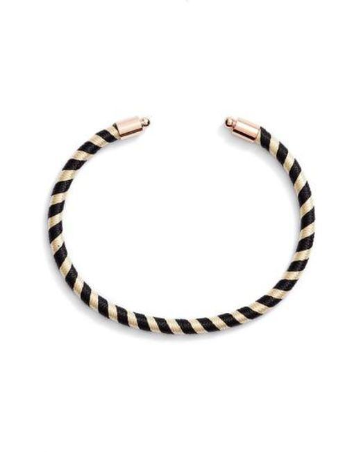 Rebecca Minkoff | Black Candy Stripe Cuff | Lyst