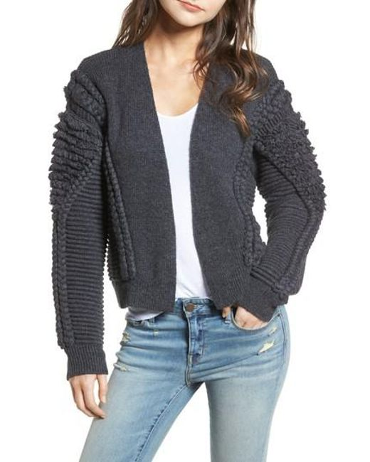 Lyst - Treasure & bond Cable Detail Cardigan in Gray - Save 50%