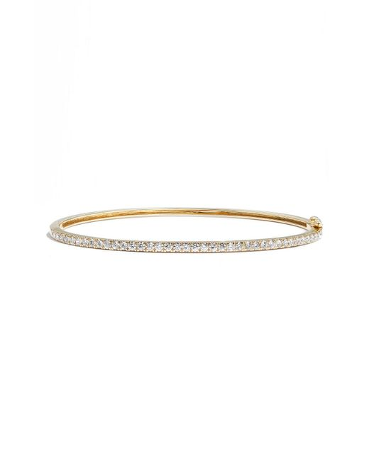 Bony Levy - Metallic Stackable Large Skinny Diamond Bangle (nordstrom Exclusive) - Lyst