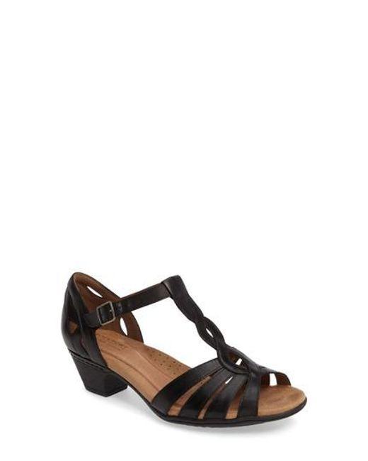 Cobb Hill - Black Abbott T-strap Sandal - Lyst