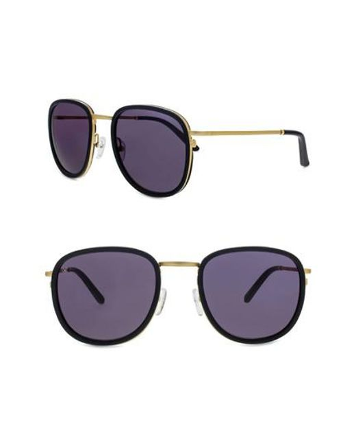 Smoke X Mirrors   Metallic 51mm Sunglasses   Lyst