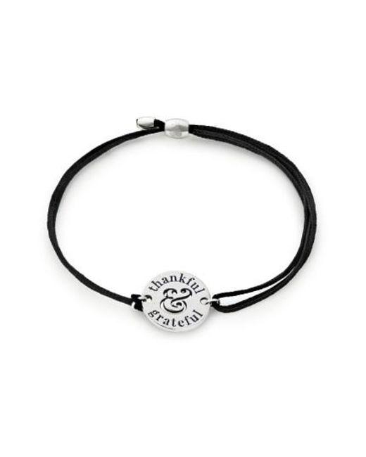 ALEX AND ANI | Metallic Thankful & Grateful Pull Cord Bracelet | Lyst