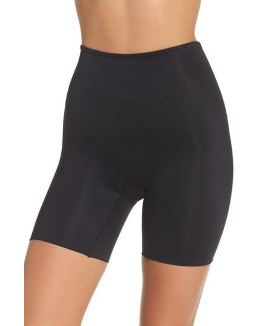 Spanx - Black Spanx Power Conceal-her Mid Thigh Shaping Shorts - Lyst