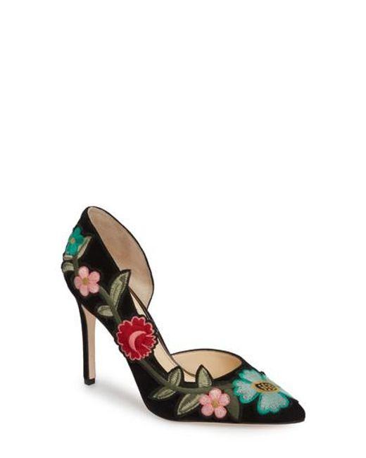 Jessica Simpson Women's Pristina Floral Applique Pump 0FB7oM4hWW