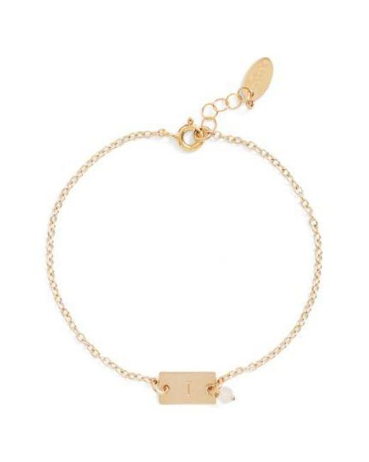 Nashelle | Metallic Shaka Initial 14k-gold Fill Bar Bracelet | Lyst