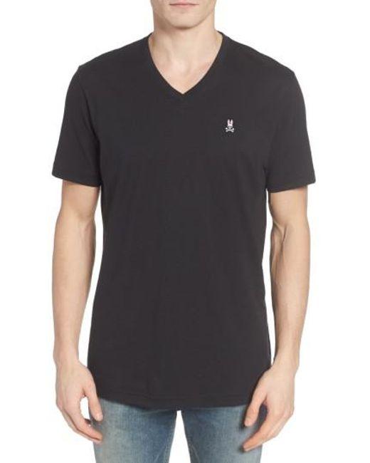 Psycho Bunny | Black V-neck T-shirt for Men | Lyst