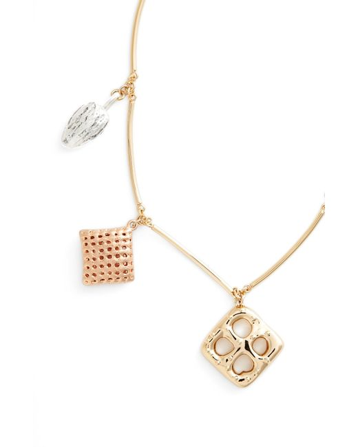 Tory Burch - Metallic Snack Charm Necklace - Lyst