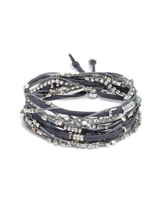 Serefina | Gray Convertible Wrap Bracelet | Lyst