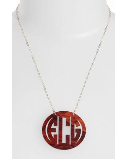 Moon & Lola - Multicolor Large Oval Personalized Monogram Pendant Necklace (nordstrom Exclusive) - Lyst