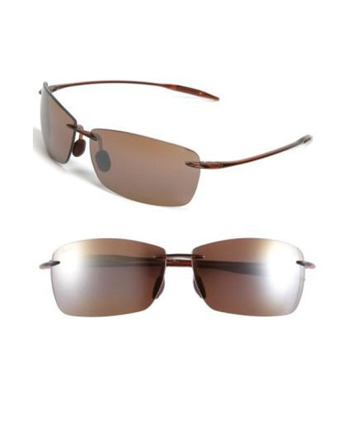 Maui Jim - Red Lighthouse 65mm Polarizedplus2 Rimless Sunglasses - Rootbeer - Lyst