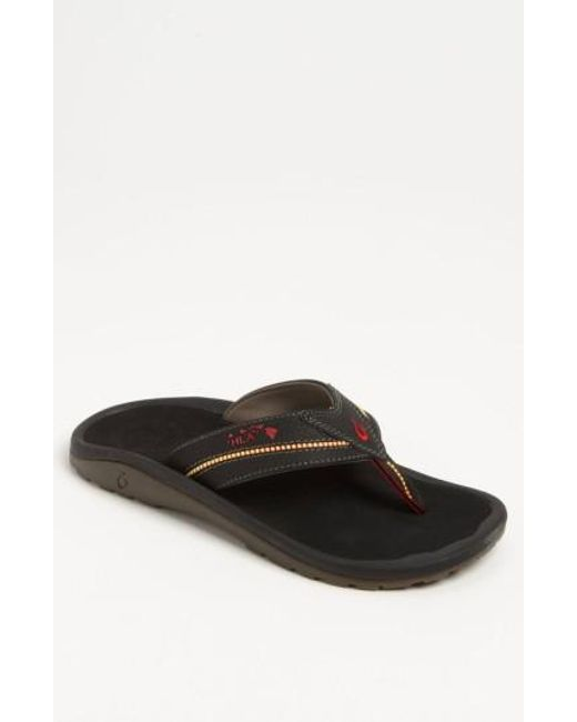 Olukai | Black 'kia'i Ii' Flip Flop for Men | Lyst
