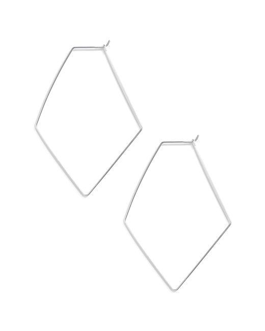 Argento Vivo - Metallic Rhombus Hoop Earrings - Lyst