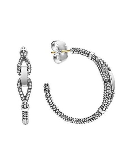 Lagos | Metallic Derby Caviar Hoop Earrings | Lyst