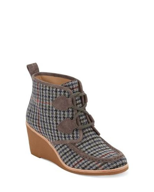 G.H. Bass & Co.   Gray Rosa Wedge Bootie   Lyst