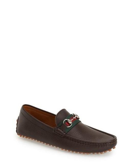 Gucci | Brown 'damo' Driving Shoe for Men | Lyst