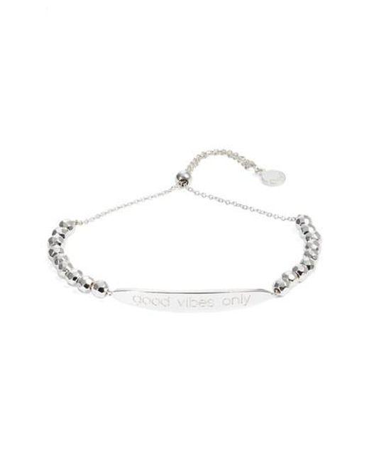 Gorjana | Metallic Power Intention Bracelet Good Vibes Only Bracelet | Lyst