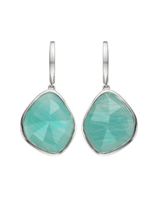 Monica Vinader | Blue Siren Nugget Semiprecious Stone Drop Earrings | Lyst