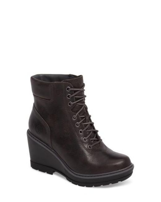 Timberland | Black Kellis Wedge Lace-up Boot | Lyst