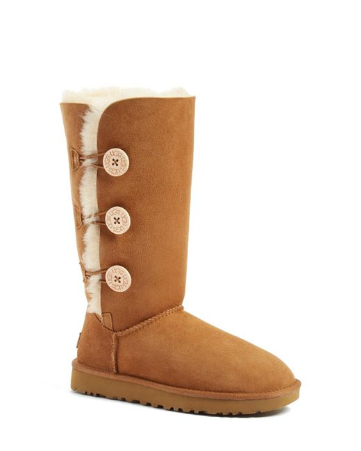 Ugg - Brown Ugg 'bailey Button Triplet Ii' Boot - Lyst