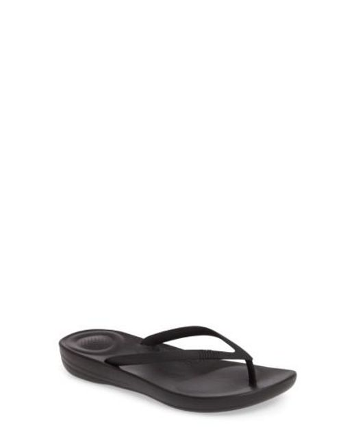 Fitflop - Black (tm) Iqushion Flip Flop - Lyst