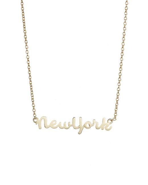 Argento Vivo - Metallic Script New York Pendant Necklace - Lyst