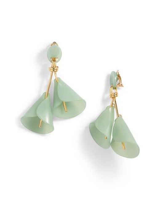 Lele Sadoughi Green Calla Lily Earrings Lyst