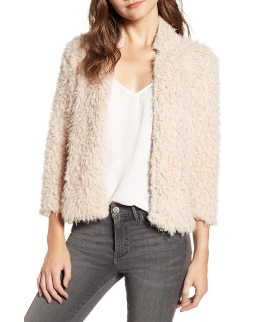 BISHOP AND YOUNG - Natural Bishop + Young Faux Fur Jacket - Lyst