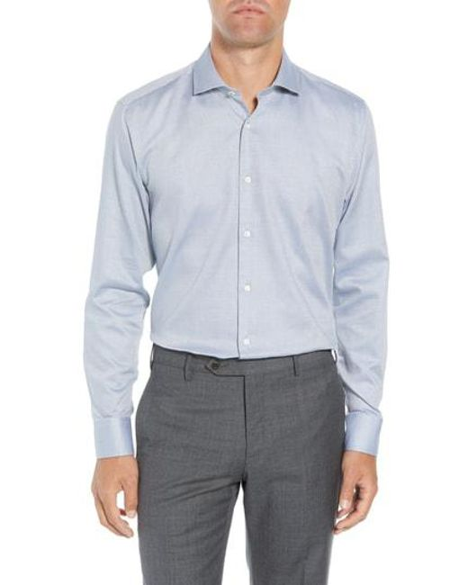ca357d7365f565 Lyst - Ted Baker Coorm Trim Fit Geometric Dress Shirt in Gray for Men