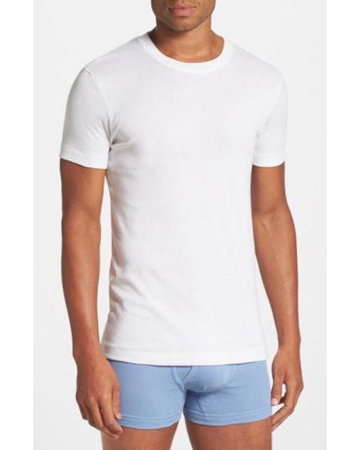 2xist   White Pima Cotton Crewneck T-shirt for Men   Lyst