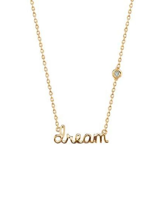 Shy By Sydney Evan | Metallic Dream Diamond Pendant Necklace | Lyst