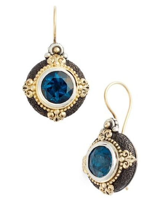 Konstantino - Blue Nemesis Drop Earrings - Lyst