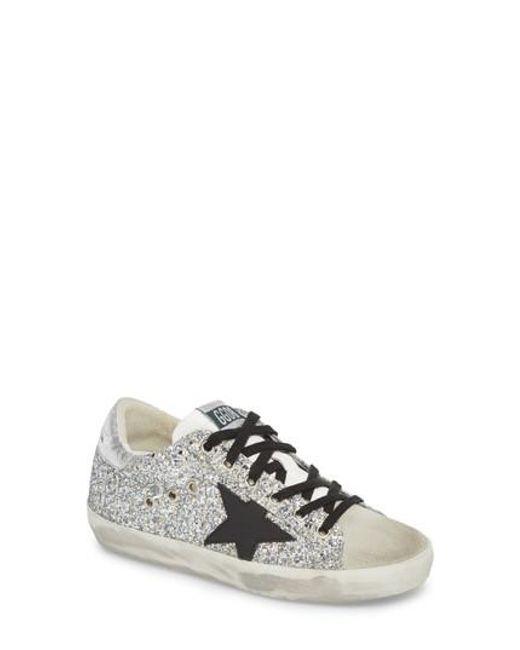 Sneakers G32WS fabric glitter silver Golden Goose Dbae8