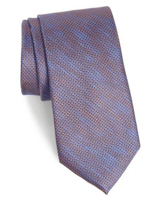 Calibrate   Black Hoss Textured Silk Tie for Men   Lyst