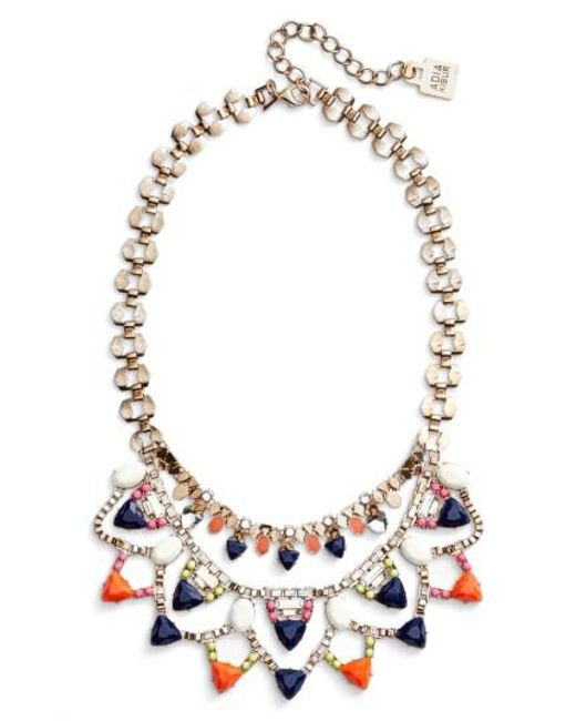 Adia Kibur | Multicolor Layered Stone Bib Necklace | Lyst