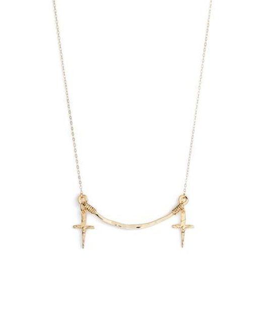 BRITT BOLTON | Metallic Frontal Necklace | Lyst