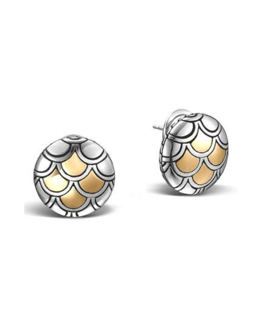 John Hardy - Metallic 'legends' Scale Stud Earrings - Lyst