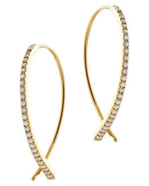 Lana Jewelry Metallic Dia Small Upside Down Flawless Diamond Earrings Lyst