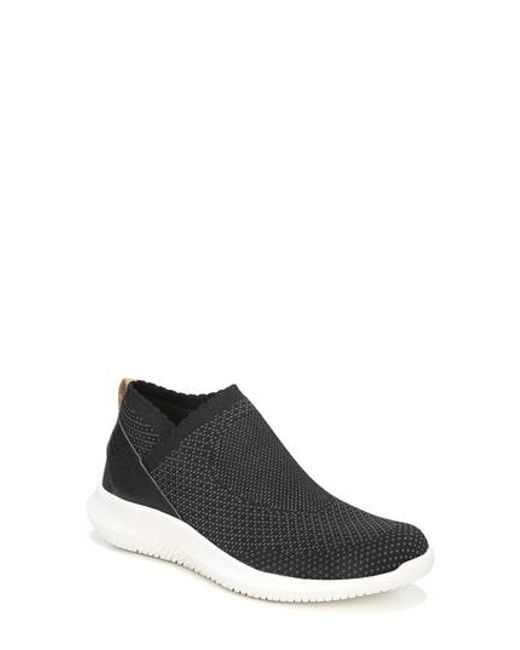 Dr. Scholls | Black Fierce Knit Slip-on Sneaker | Lyst