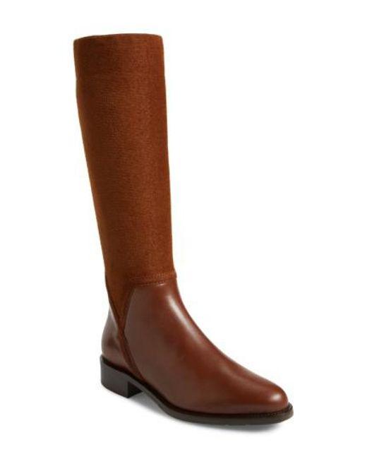 Aquatalia | Brown Nicolette Weatherproof Knee High Boot | Lyst