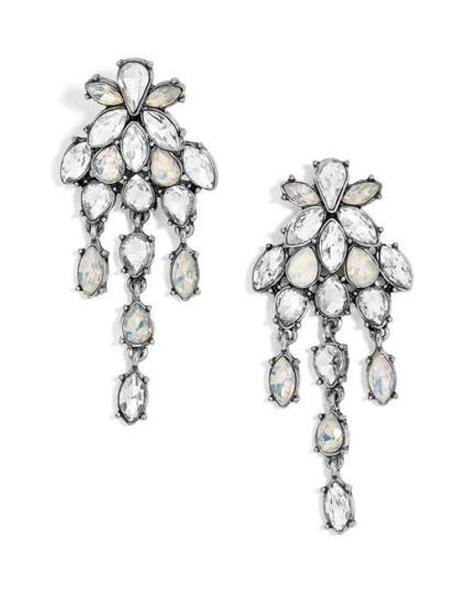 dropped crystal earring - Metallic E.M. mCITlRhk6u