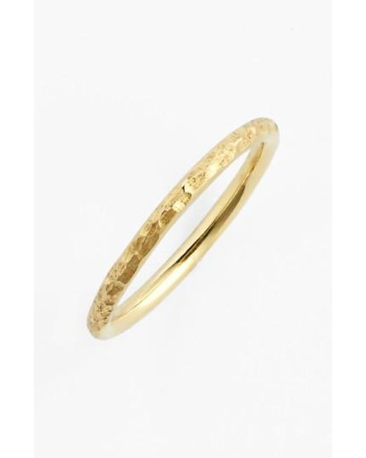 Bony Levy | Yellow Hammered 14k Gold Midi Ring (nordstrom Exclusive) | Lyst
